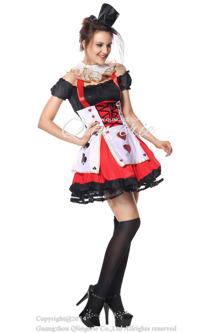 queen of hearts halloween costume n5616. Black Bedroom Furniture Sets. Home Design Ideas