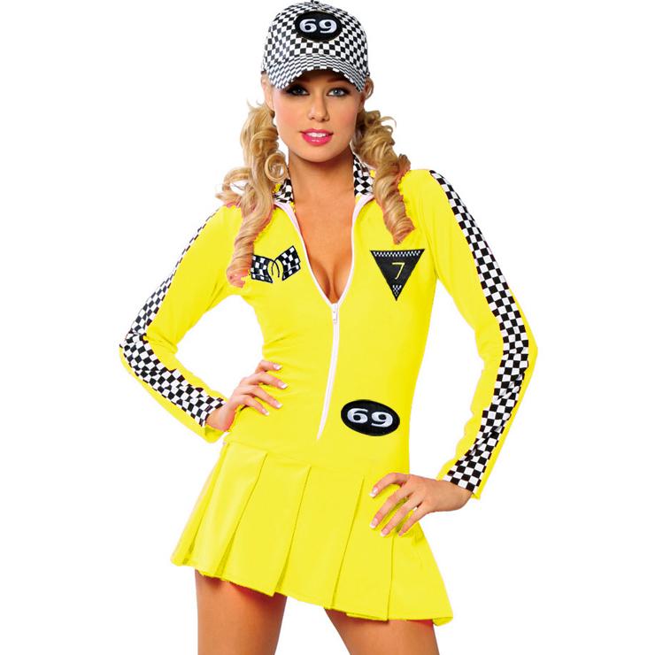 Racer Girl Costume Yellow N1371