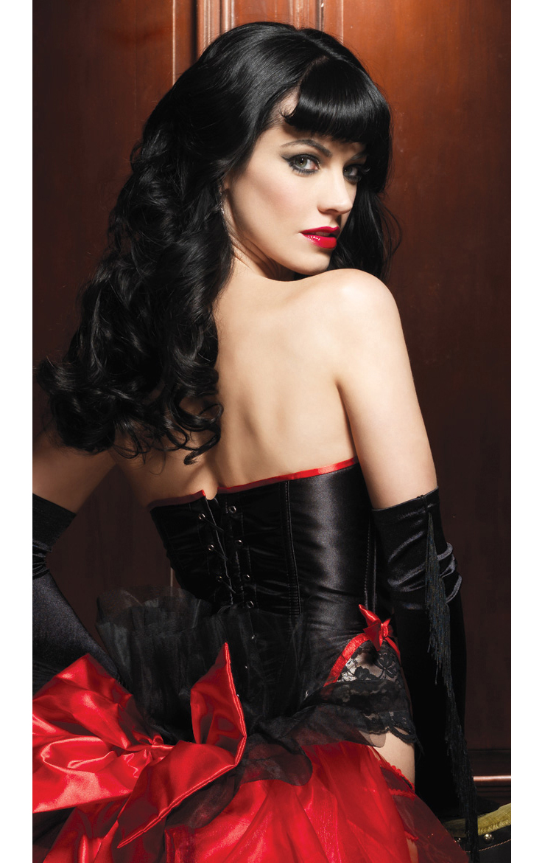 Raven Corset with Support Boning, Black Corset, Romantic Corset, #N4443