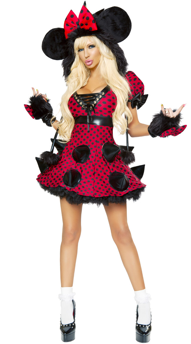 Rebel Mouse Costume Adult Minnie Mouse Costume Sexy Minnie Mouse Halloween Costume Womens  sc 1 st  MallTop1.com & Rebel Mouse Costume N6208