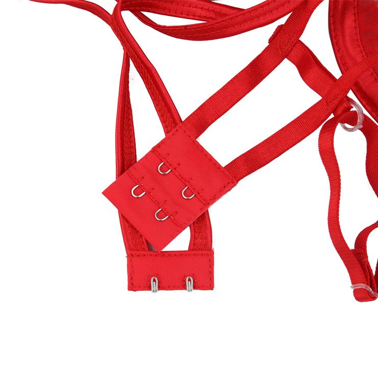 Sleepwear for Women, Cheap Lingerie, Sexy Lingerie Set for women, Cutout Lingerie, Lace Lingerie Outfit for Women, Strappy Lace Lingerie Red, #N15578
