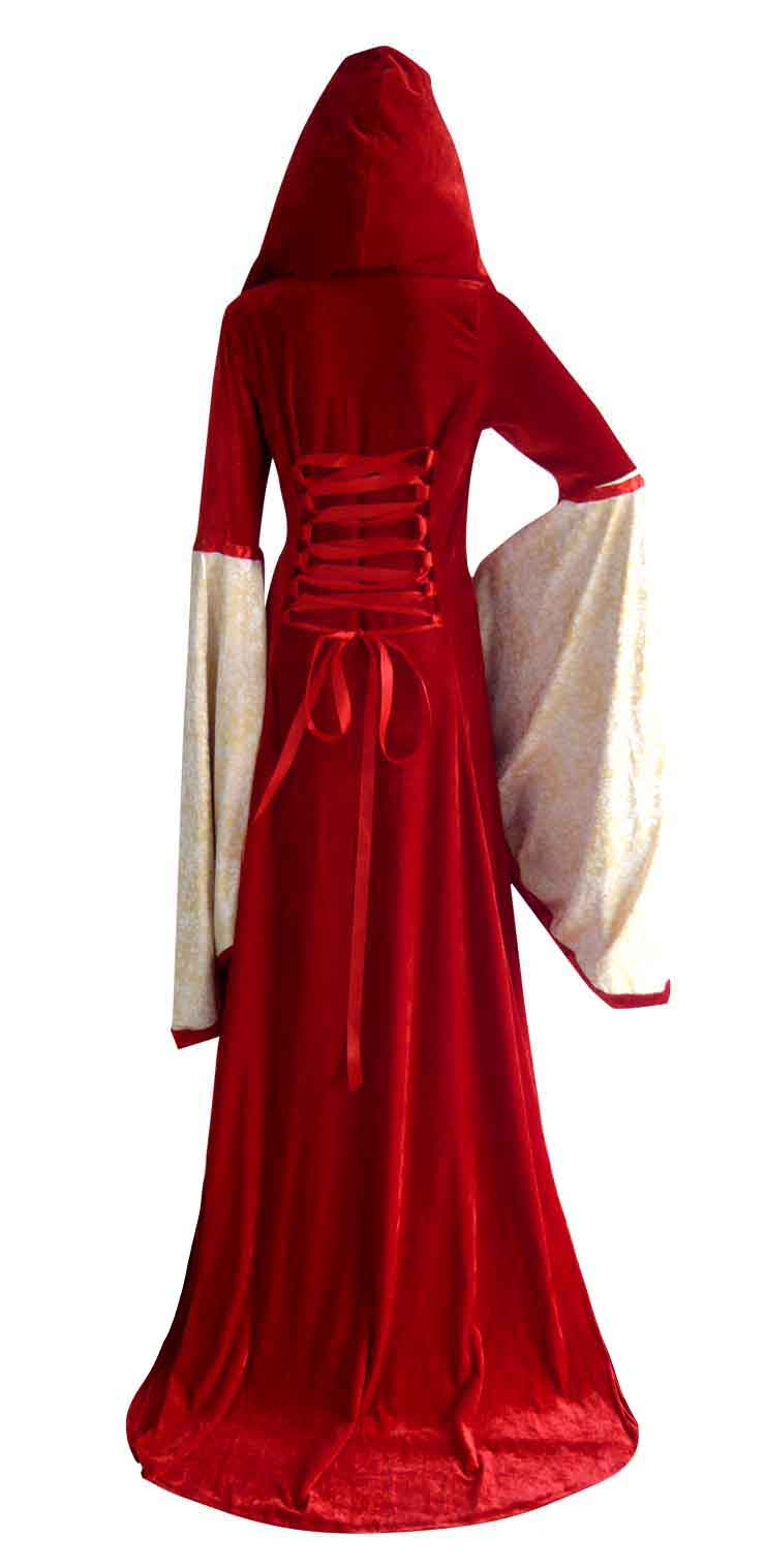 Red Hooded Robe Costume, Deluxe Red Hooded Robe, Deluxe Hooded Robe, #N4969