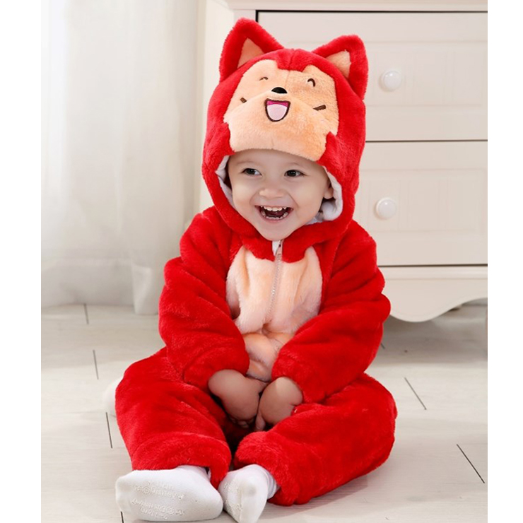 Red Raccoon Jumpsuit Climbing Clothes N6261