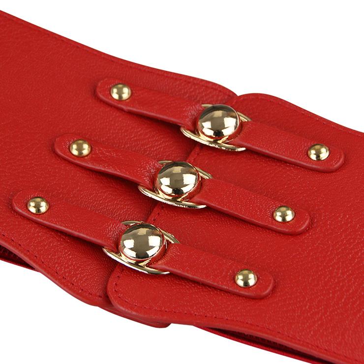 Tied Wasit Belt, High Waist Corset Cinch Belt, Steampunk Wasit Belt, Waist Cincher Belt Red, Lace Up Wide Waistband Cinch Belt, #N14797