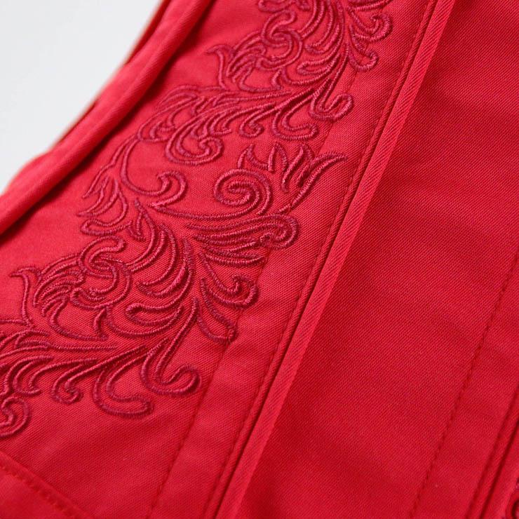 Brocade Embroidery Underbust Corset, Steel Bone Waist Training Corset, Steel Boned Brocade Corset, Steampunk Underbust Corset, #N14109