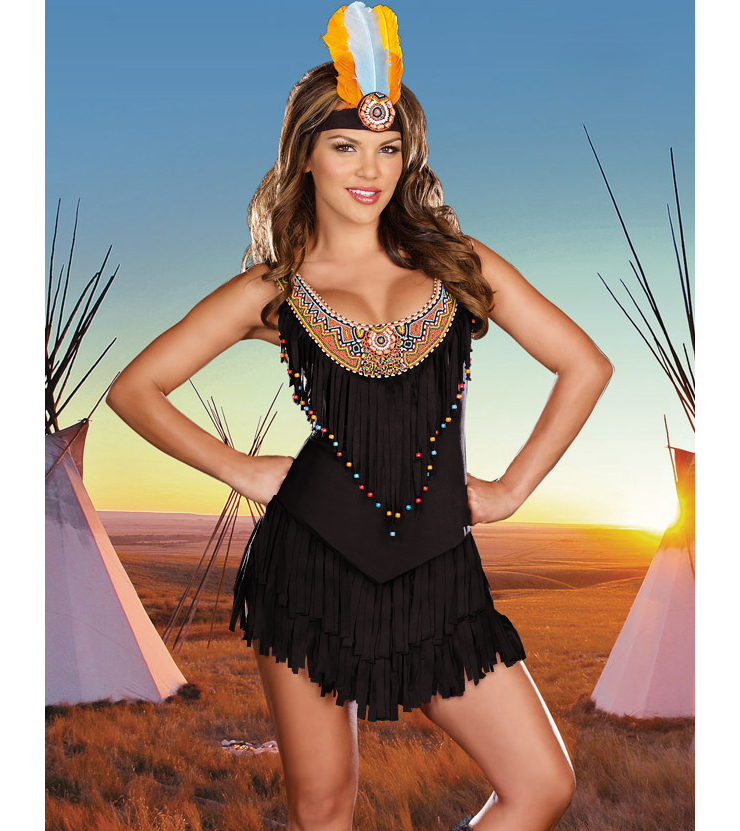 Reservation Royalty Costume, Suede Indian Dress, Fringed Indian Costume, #N1985