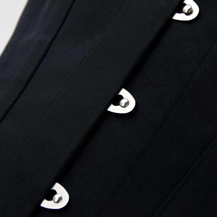 Jacquard Corset, Steel Bones Corset, Waist Cincher Corset, Underbust Corset, Black Corset for Women, Retro Corset, #N15323