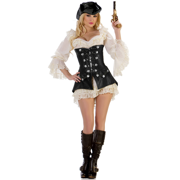 Rogue Pirate Dress Costume N4566