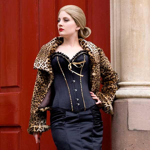 Ruffled Burlesque Corset N2767