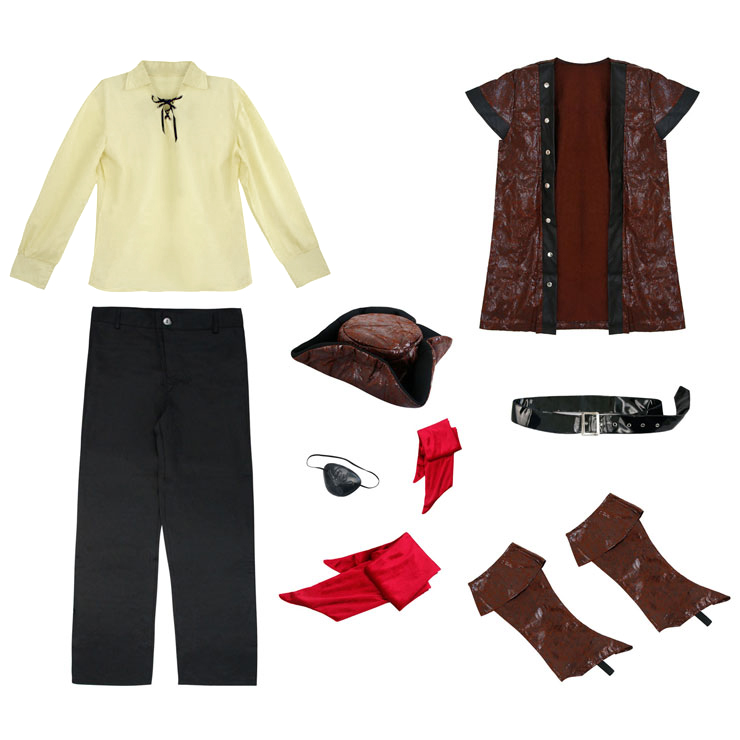 Rustic Pirate costume, Adult