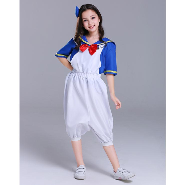 4PCS Retro Kid's Sailor Costume Sailor Shirt and Suspenders Cosplay Set N18305