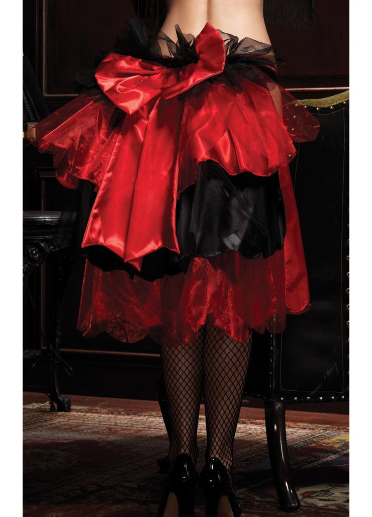 2PC Skirt & Heart Print Panties N4444