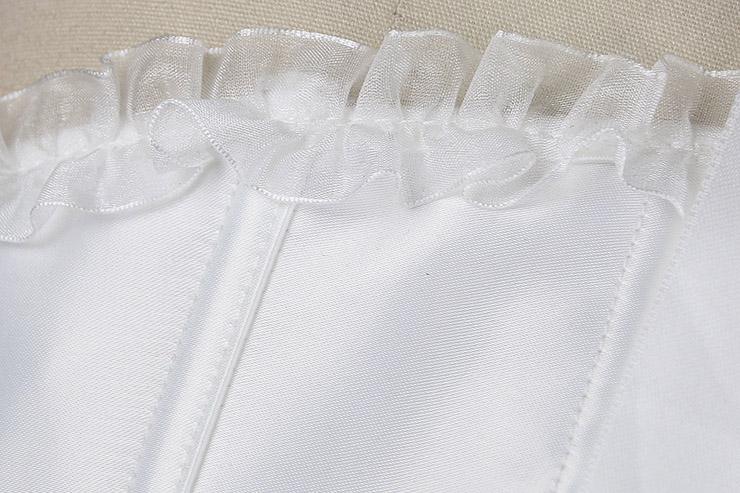 White Satin Corset, White Corset, Satin Classic Sweetheart Overbust Corset, #N5681