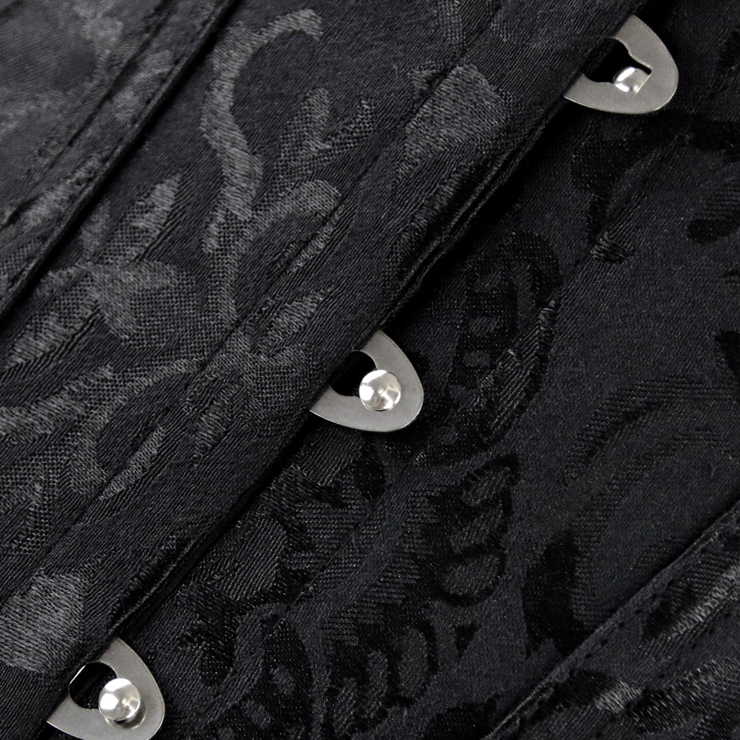 Embroidered Corsets, black Embroidered corset, corset, #N2061