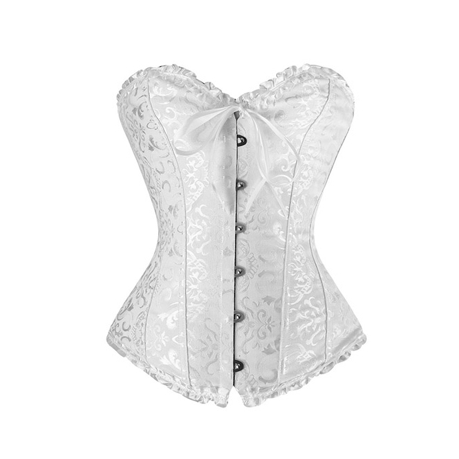 White Embroidered Corset N2731
