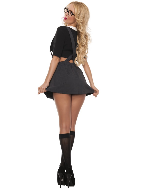 Innocent School Girl Costume, Sexy School Girl Costume, Plaid Schoolgirl Costume, School Girl Adult Costume, #N11901