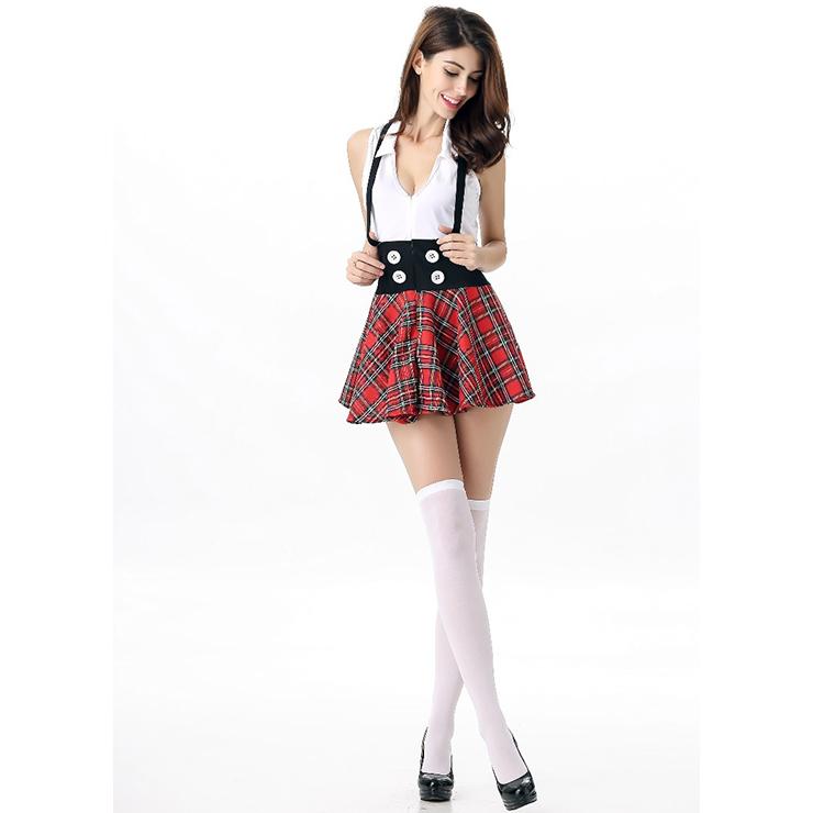 School Girl Costume, Sexy School Girl Costume, Plaid Schoolgirl Costume, School Girl Adult Costume, #N12002