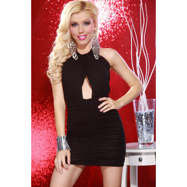 black Club Dress, Mini Black Dress, Club Dress, #N1767
