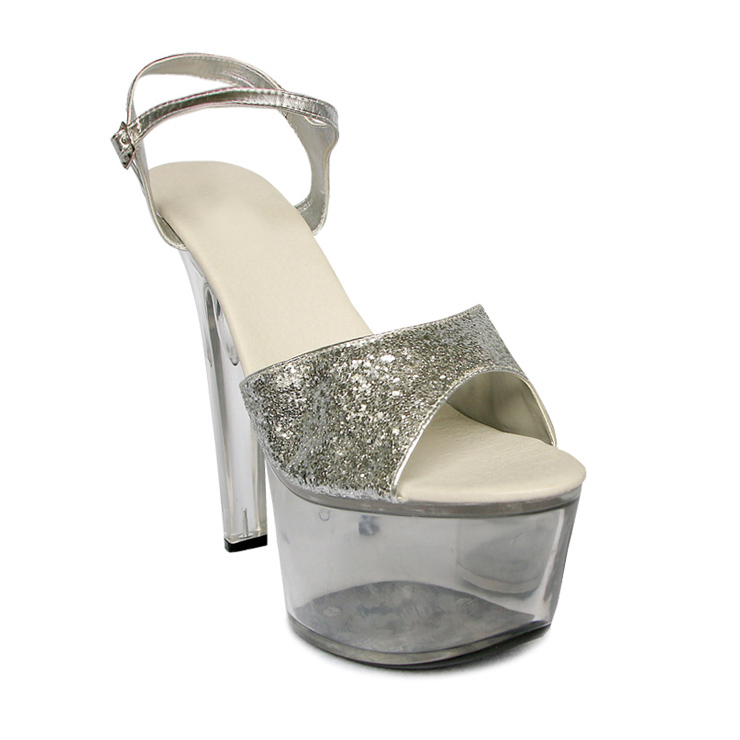 sequins clear platform sandals sws20068