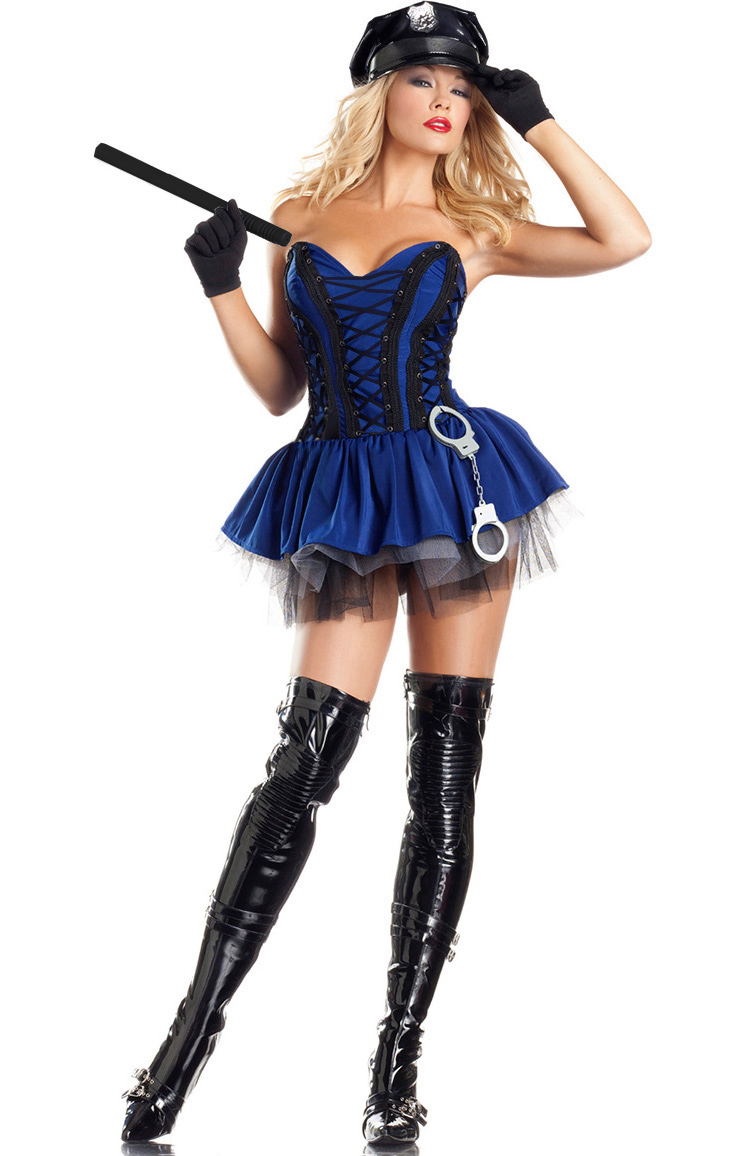 Sergeant Stunner Costume, Sexy Cop Costume for Women, Sexy Police Woman Costume, #N7676