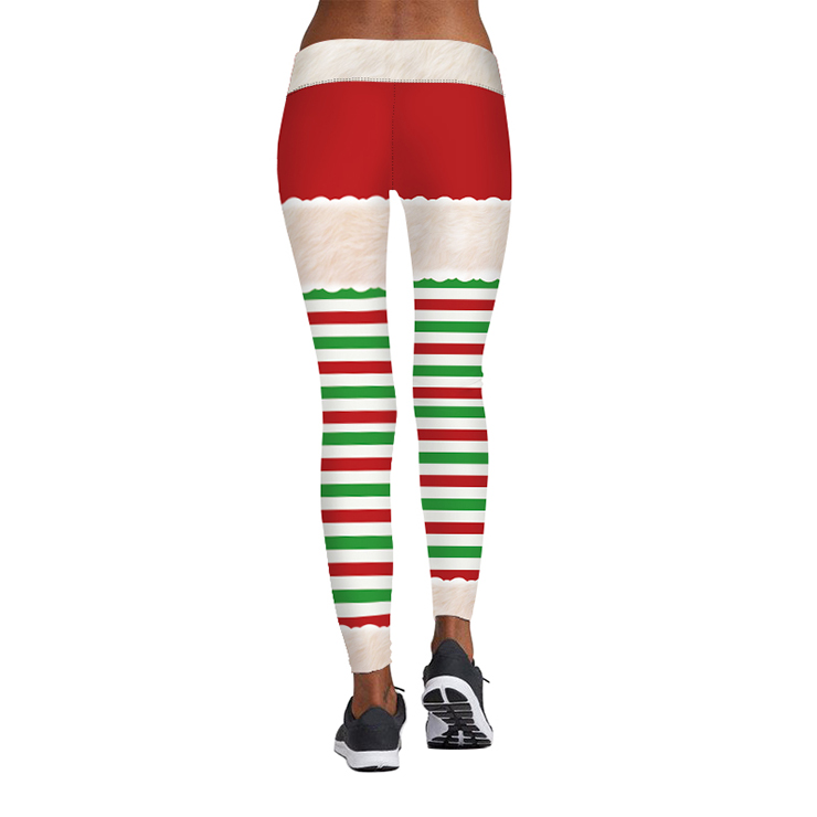 womens sexy 3d digital print chic ugly santa christmas slim leggings tights l15091