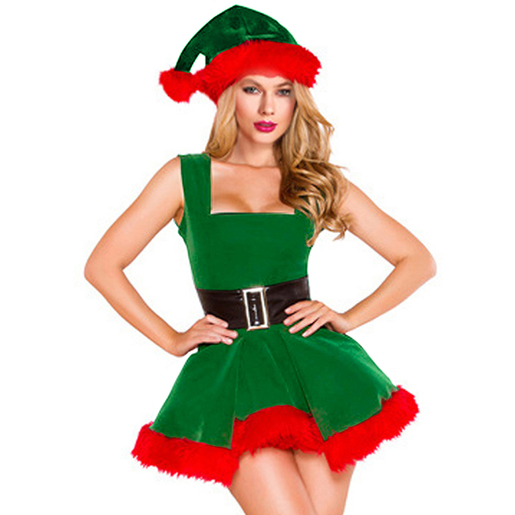 Women's Sexy Adult Elf Christmas Costume XT14997