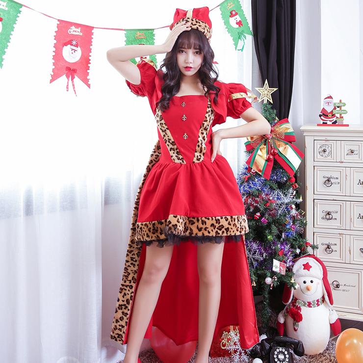 Women's Adult Santa Claus High-low Dress Christmas Costume XT15257