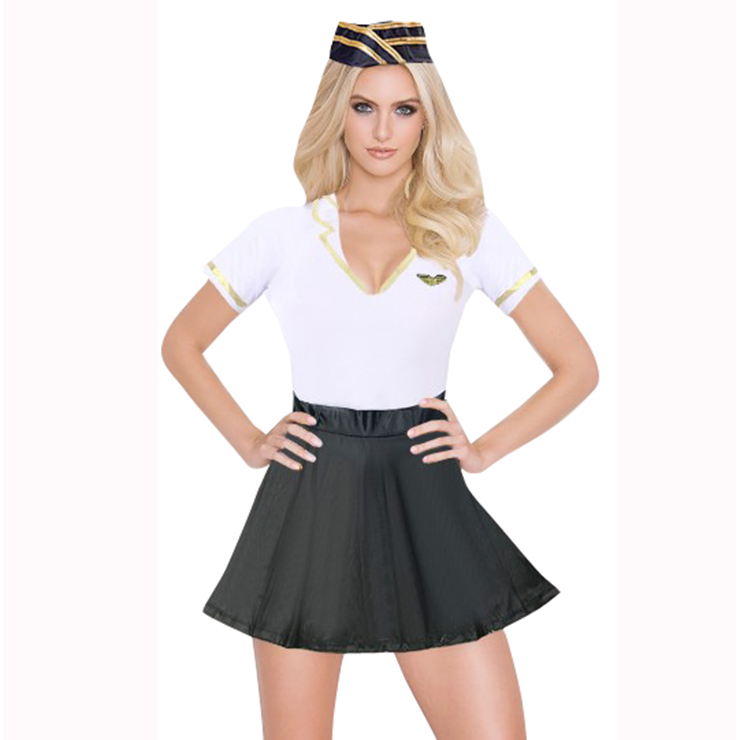 Women's Sexy Airline Stewardess Costume N15313