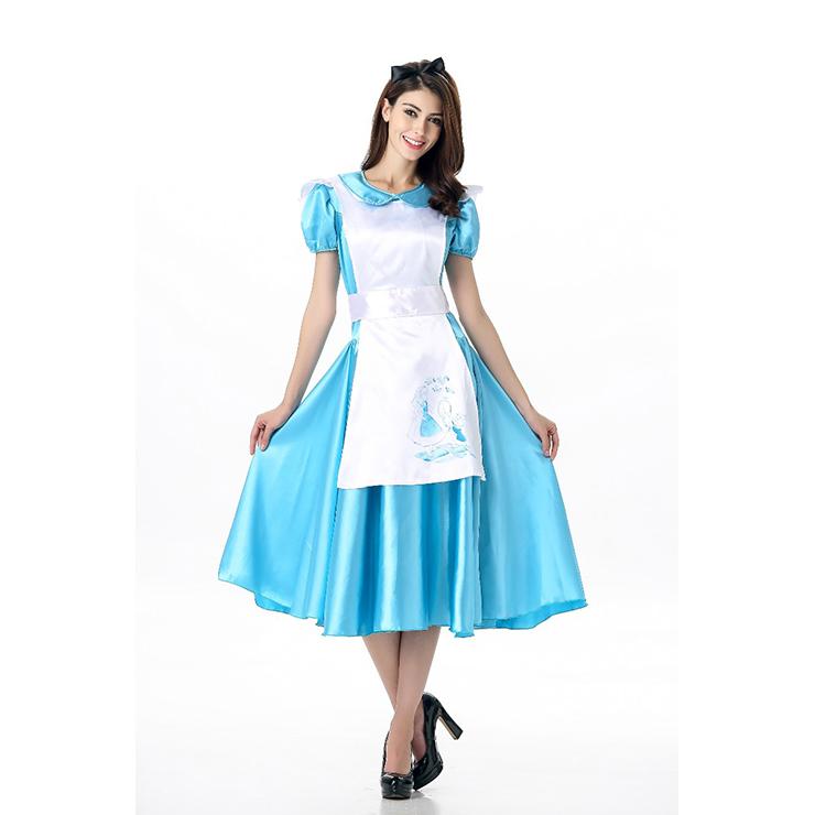 deluxe alice wonderland costume apron dress n11675. Black Bedroom Furniture Sets. Home Design Ideas