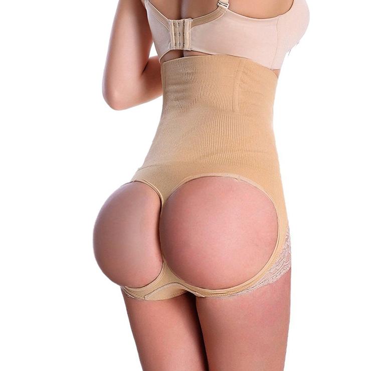Sexy Apricot High Waist Butt Lifter Panty Shaper PT10592