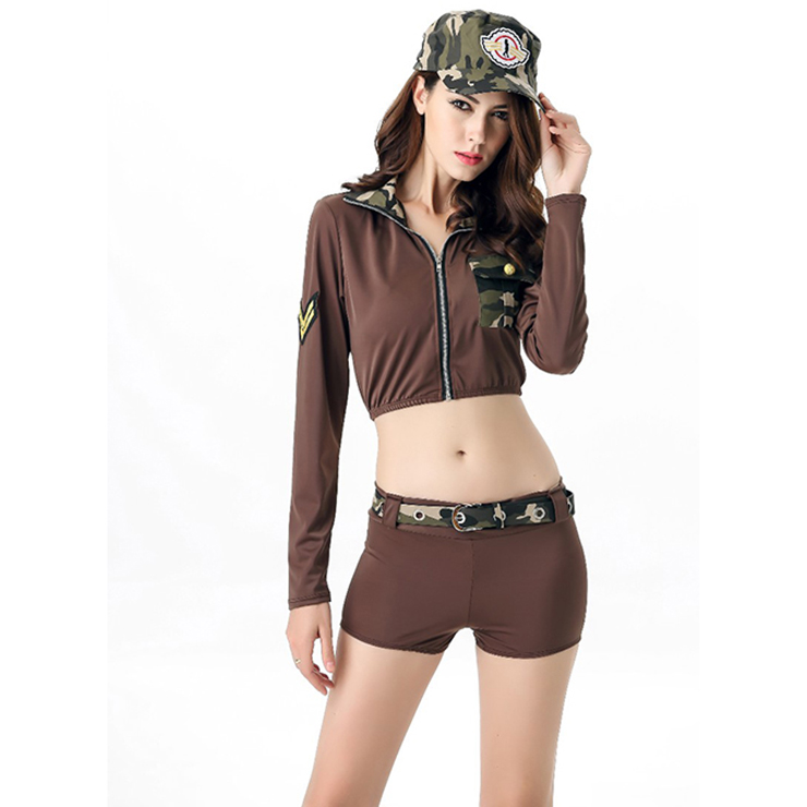 Sexy Army Soldier Girl Uniform Costume N11687