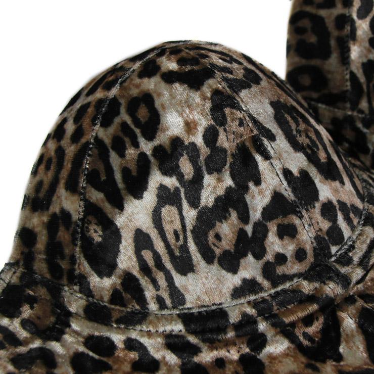 Sexy Pleuche Bra Top, B Cup Bustier Bra, B Cup Bustier Bra for Women, Cool Punk Clubwear Bra Crop Top, Gothic Pleuche Crop Top, Leopard Print Top, #N20097