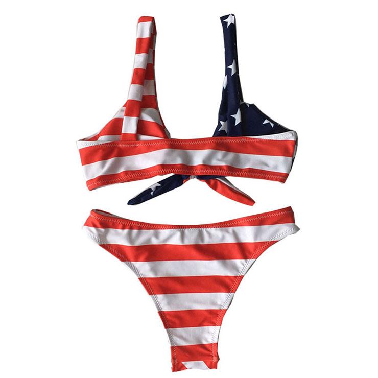 Sexy Bikini Set, Sexy American flag pattern Bikini Set, Beachwear Lingerie Set, Bikini Bra Top and Panty Set, Sexy Bikini Set for Women, Sexy Bandage Type Bikini Sets, #BK17979
