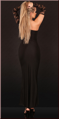 Asymmetric Cut Out Gown, Glamorous one-armed gown, Cut Out Gown, #N2829