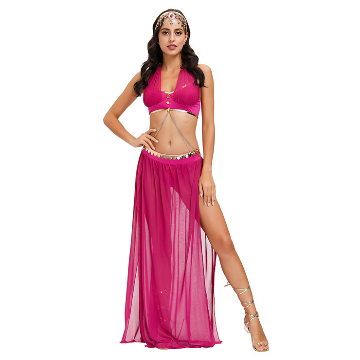 Sexy Womens Adult Belly Dance Bra and Chiffon Skirts Dancing Outfit Carnival Costume N20599