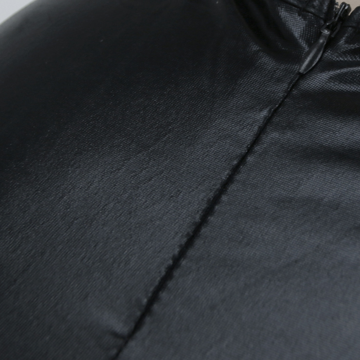 Black Wet Look Romper, Cheap Cat Halloween Costume, Black Cat Romper Women