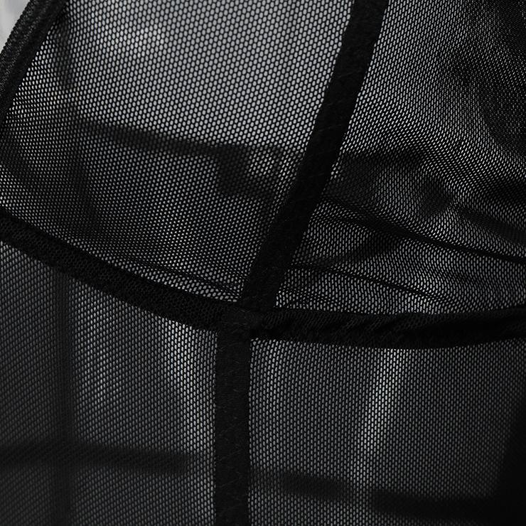 Sleepwear for Women, Sexy Bodysuit, Cheap Romper Lingerie, Strappy Mesh Lingerie, Black Teddy lingerie for women, Teddy Lingerie Cutout,  #N14488
