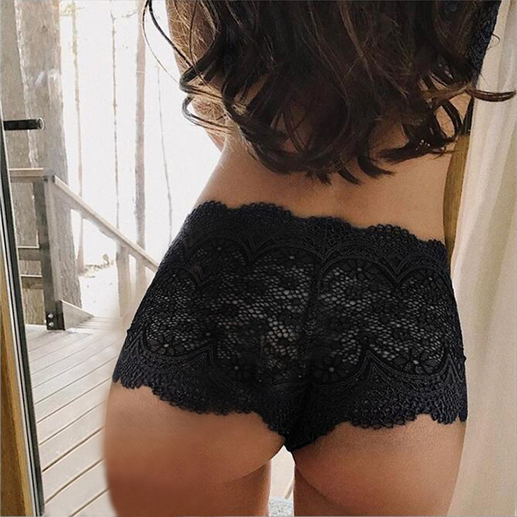 Sexy Black Thong, Sexy Lace Panty for Women, Black Elastic Lace Thong, Black Crotchless Lace Panty, Sexy Open Crotch Plus Size Thong, Sexy Black Lace Panty, #PT19274