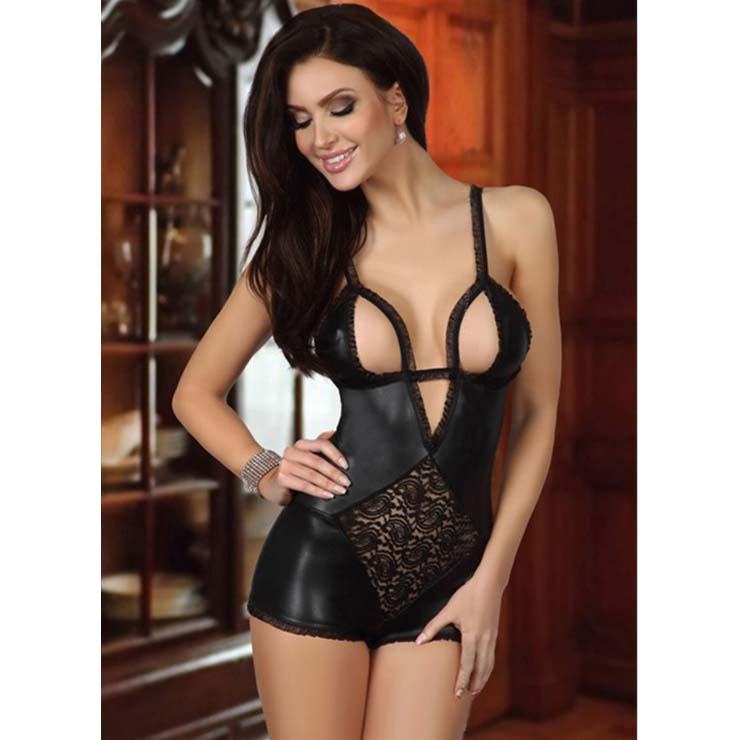Sexy Black Lace Cut-out Bust Lingerie N10627
