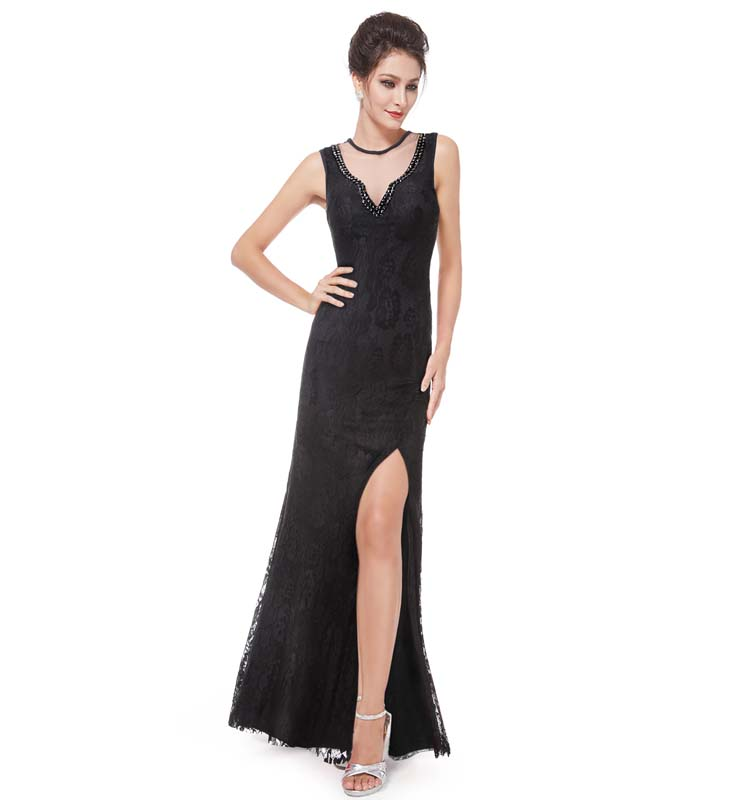 Sexy Black Evening Gown 115
