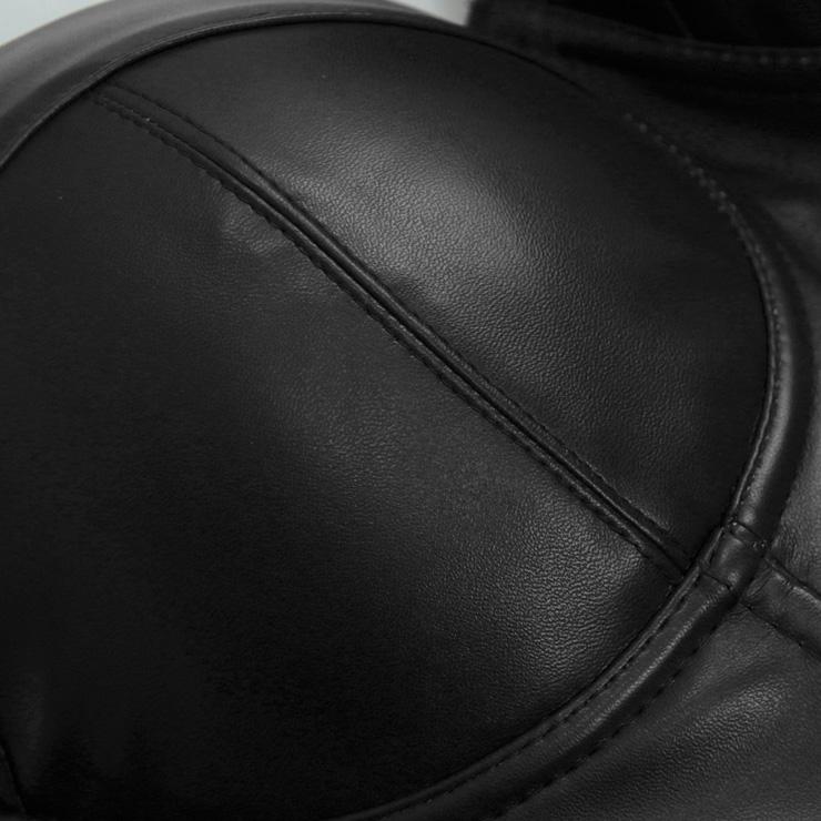 Matt Black Strap Bustier Bra, Crop Top Vegan Leather Bustier Bra, Faux Leather Bustier Bra, Sexy Black Bustier, Spaghetti Straps Crop Top, Faux Suede Bustier, #N18624