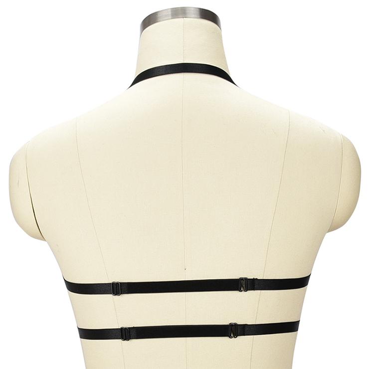 Sexy Bra Straps, Black Sexy Bundle Elastic Starps for Women, Halter Tops for women, #N18146