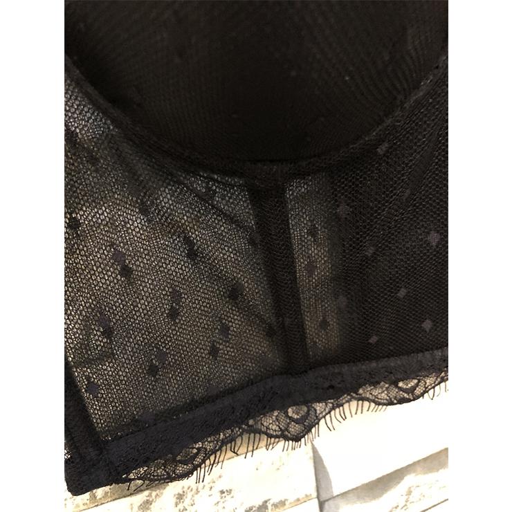 Sexy Sheer Mesh Bra Top, B Cup Bustier Bra, B Cup Bustier Bra for Women, Sexy Black Clubwear BraCrop Top, Gothic Black Crop Top, #N19959