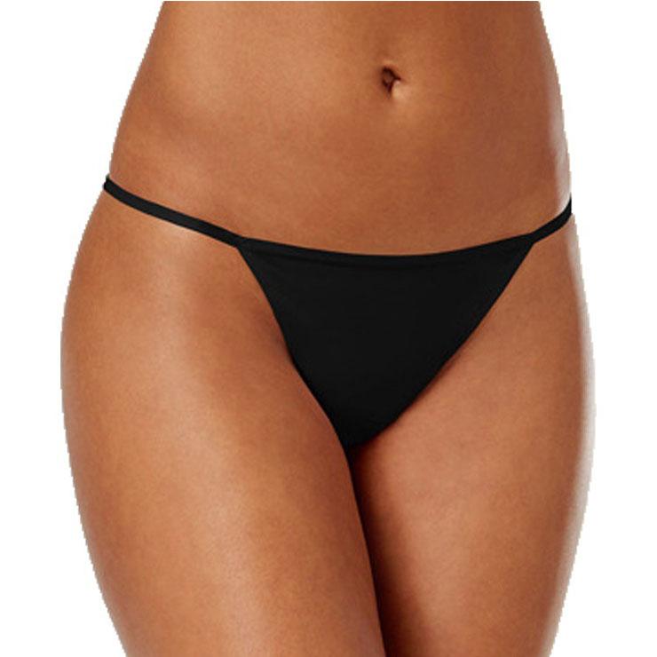 Sexy Black Elastic Bikini Thong Low Waist T-back PT21290