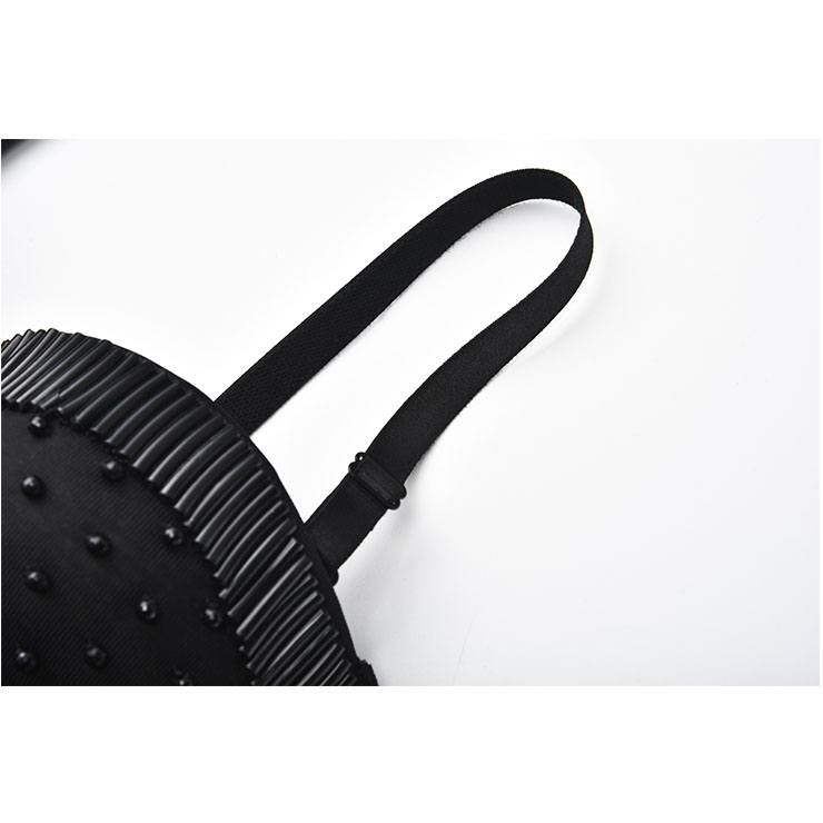 Sexy Tube Beading Strap Bustier Bra, Crop Top Vegan Bustier Bra, Sexy Bustier Bra, Sexy Black Bustier, B Cup Spaghetti Straps Crop Top, Sexy Clubwear Bustier,Clubwear Crop Top, #N20958