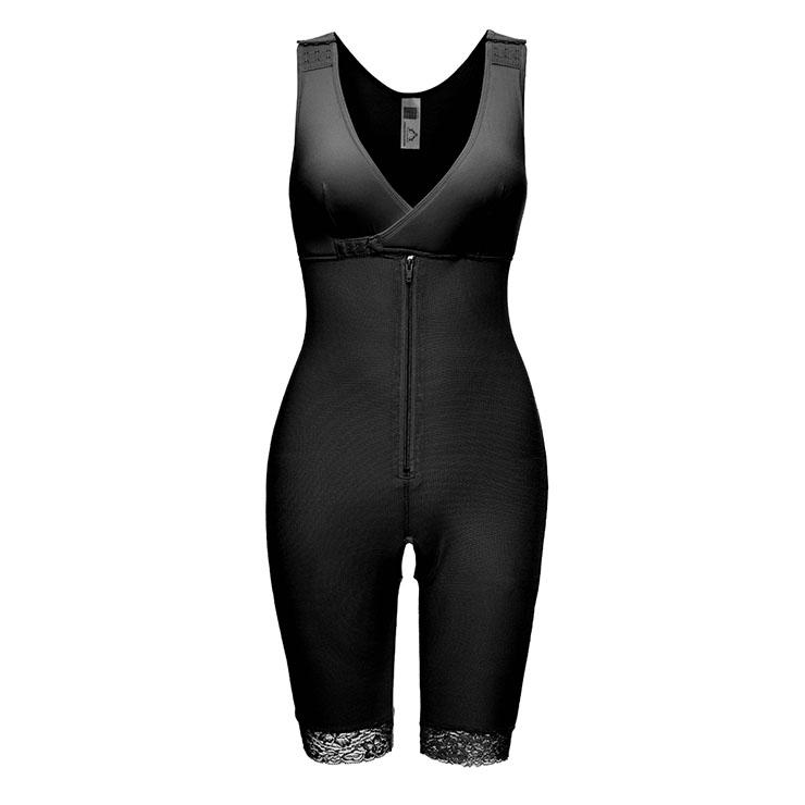 Sexy Black V Neck Bodysuit Zipper Shapewear Elastic Breasted Slimming Shapewear N20402