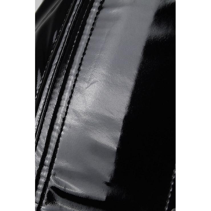 2pcs Vest Leather Corset, Vest Leather Corset Black, Collar Vest Leather Corset, Sexy Black PVC Corset, Sexy Halter Corset, PVC Corset, Black PVC Vest, #N11463