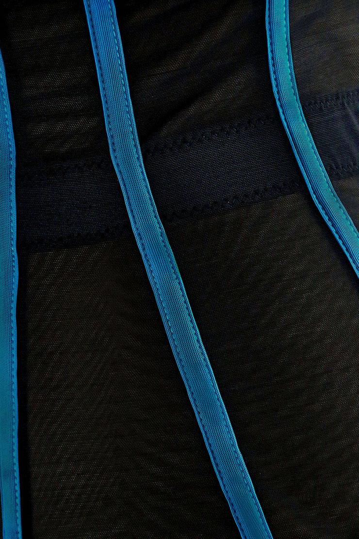 Sexy Blue Bustier Corset, Fashion Body Shaper, Cheap Shapewear Corset, Womens Bustier Top, #N11279