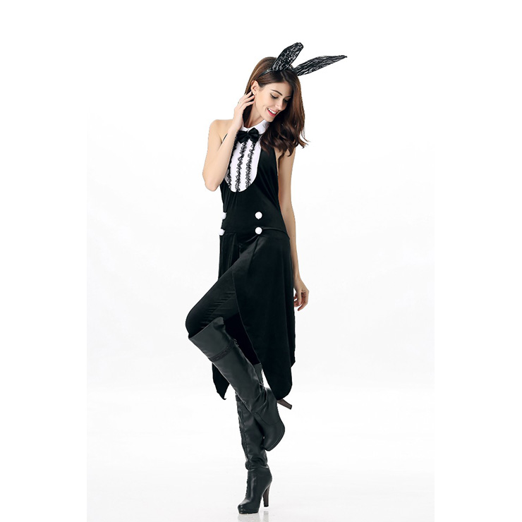 Sexy Black and White Bunny Costume, Cheap Bunny Costume, Women
