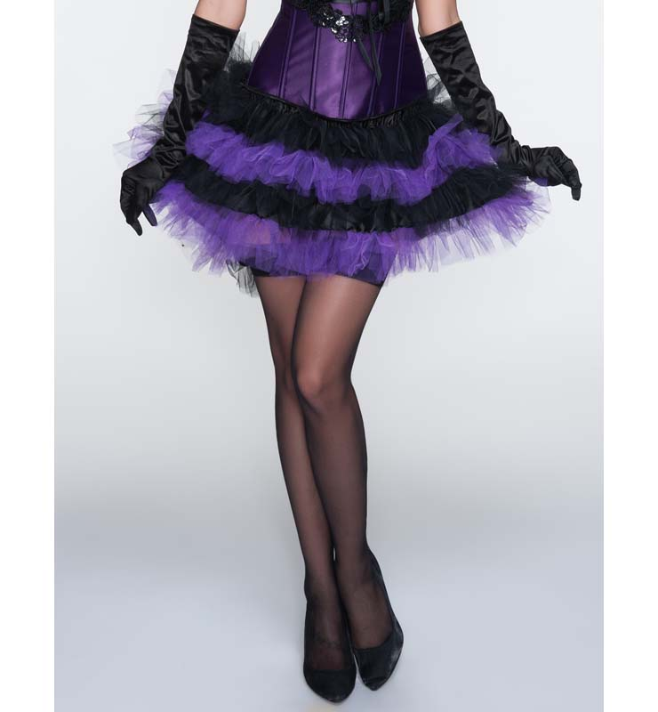 Sexy Charming Black and Purple Ruffles Petticoat HG10486